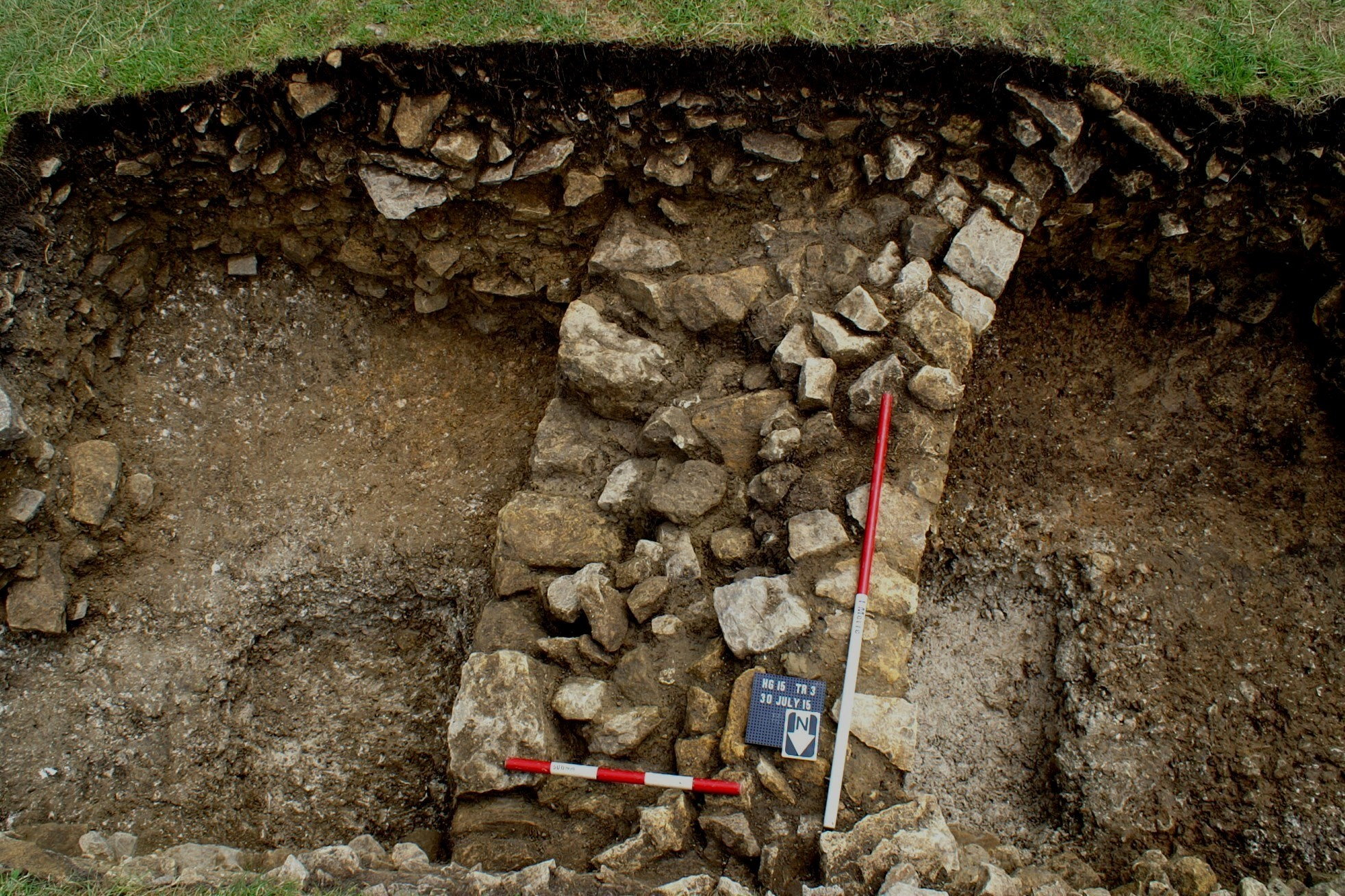 The curved wall in Trench 3