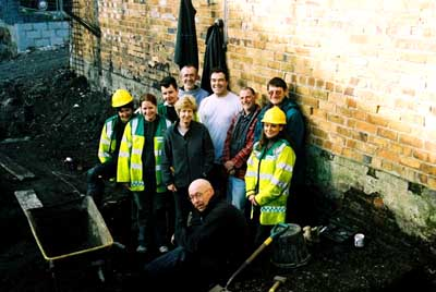 Some of the excavation team
