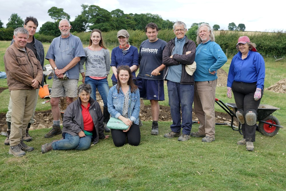 Some of the fieldwork team at Hanging Grimston