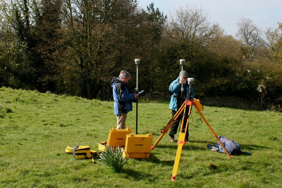 Topographic survey in progress on Brompton Castle Hill