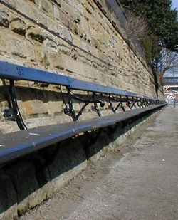 railway bench at Scarborough Station